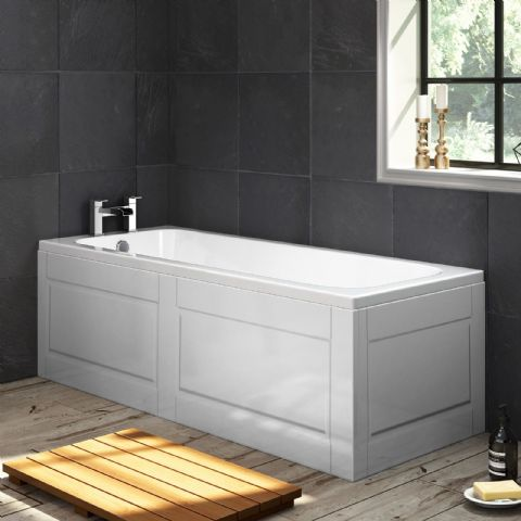 Shaker Style High Gloss White 1 Piece Bath Panels